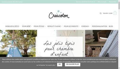 Site internet de Creacoton
