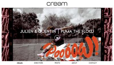 Site internet de Cream