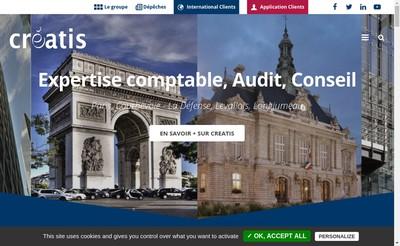 Site internet de Creatis Audit