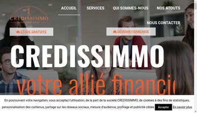 Site internet de Credissimmo Developpement