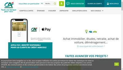 Site internet de Caisse Regionale de Credit Agricole Mutuel Charente-Perigord