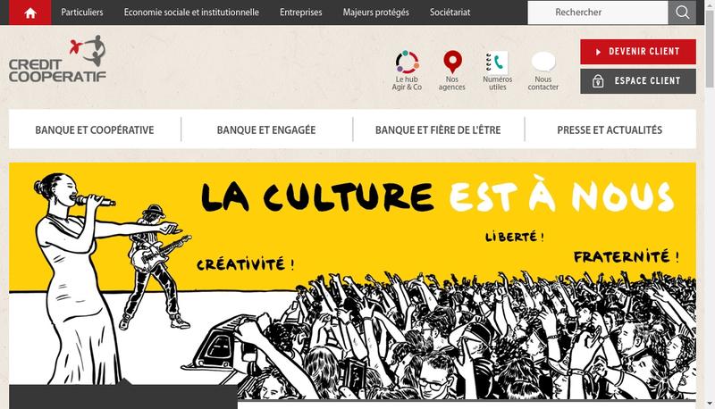 Capture d'écran du site de Union des Societe du Credit Cooperatif