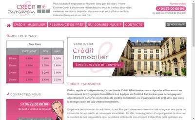 Site internet de Credit & Patrimoine