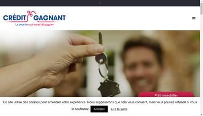 Site internet de Credit Gagnant