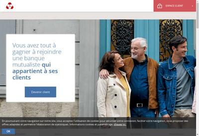 Site internet de Caisse Federale de Credit Mutuel