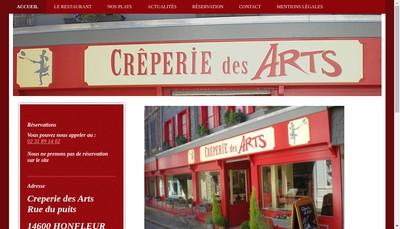Site internet de Creperie des Arts
