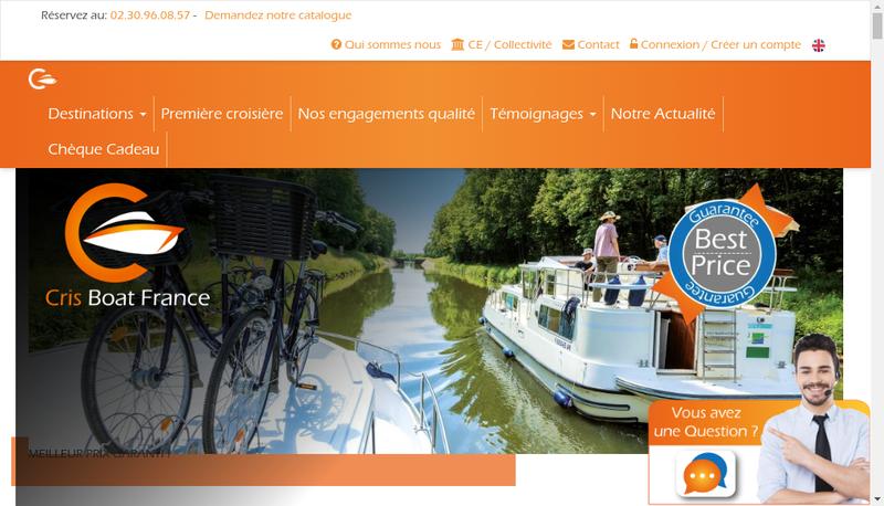 Capture d'écran du site de Cris' Boat Croisieres Comptoir Nautiqu
