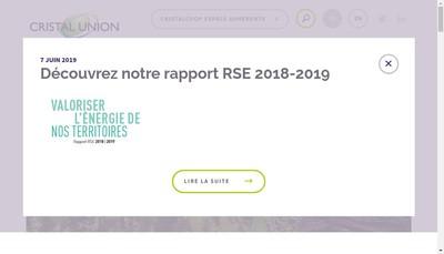 Site internet de Cristal Union