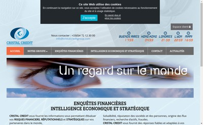Site internet de Cristal Credit France