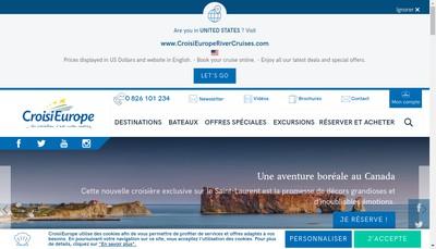Site internet de Croisi Europe-Croisi Voyages