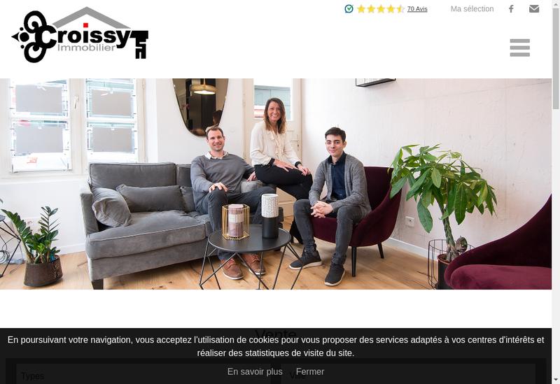 Capture d'écran du site de Croissy Immobilier