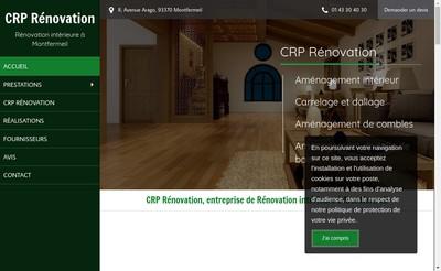 Site internet de Crp Renovation