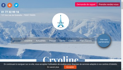 Site internet de Cryoline