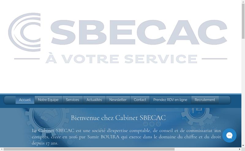 Capture d'écran du site de Cabinet Sbecac