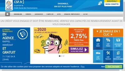 Site internet de Csf Assurance Artel Assurfonctionnaire