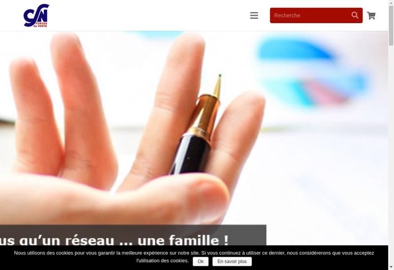 Capture d'écran du site de CSN