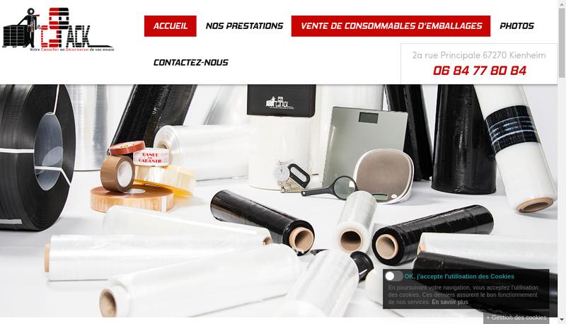 Capture d'écran du site de Cs Pack