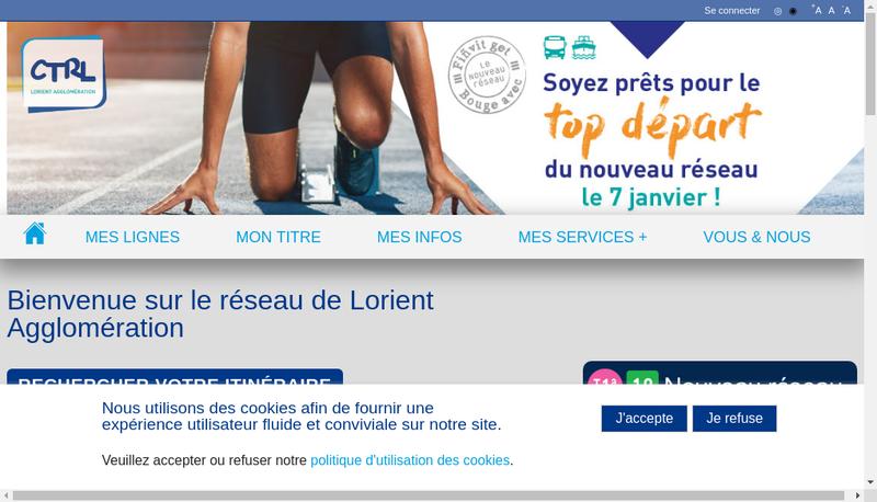 Capture d'écran du site de CTRL