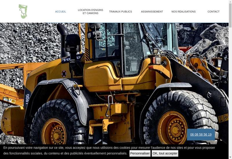 Capture d'écran du site de CLT Cubal Location Terrassement