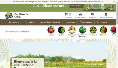 Site internet de La Cueillette de Cergy