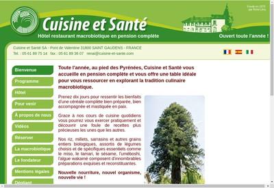 Site internet de Cuisine et Sante