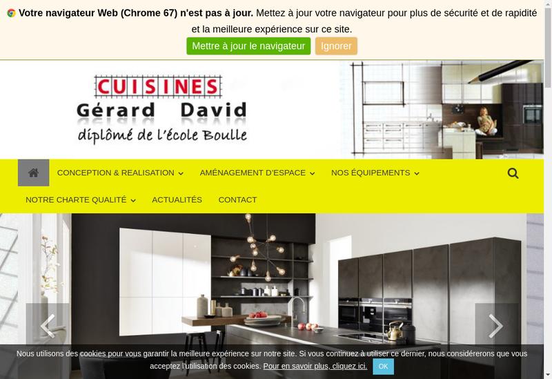 Capture d'écran du site de Les Cuisines Gerard David