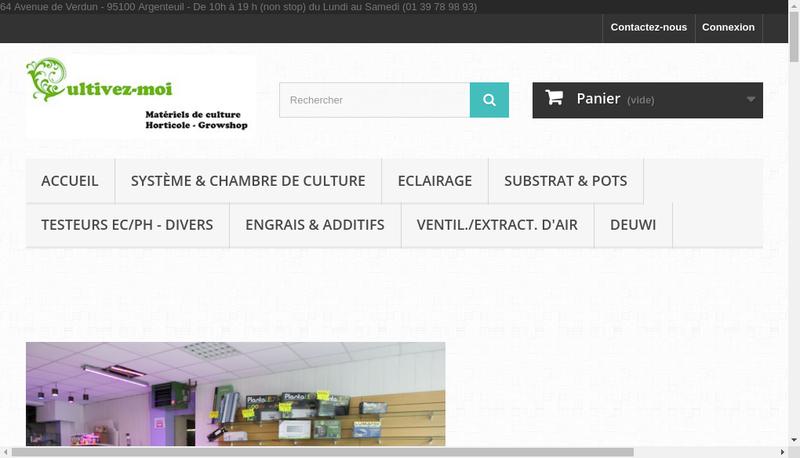 Capture d'écran du site de Cultivez Moi