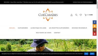 Site internet de Cur'Caraibes