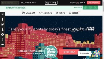 Site internet de Curioos