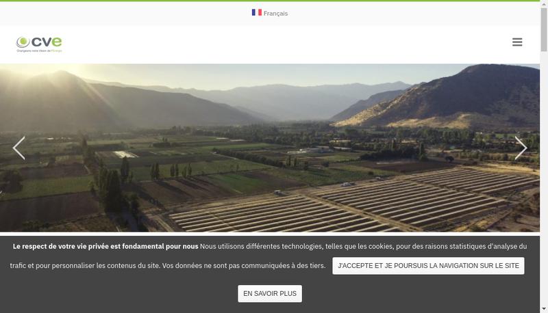 Capture d'écran du site de Cap Vert Solarenergie