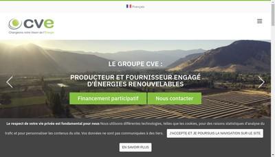 Site internet de Cap Vert Energie Exploitation 23