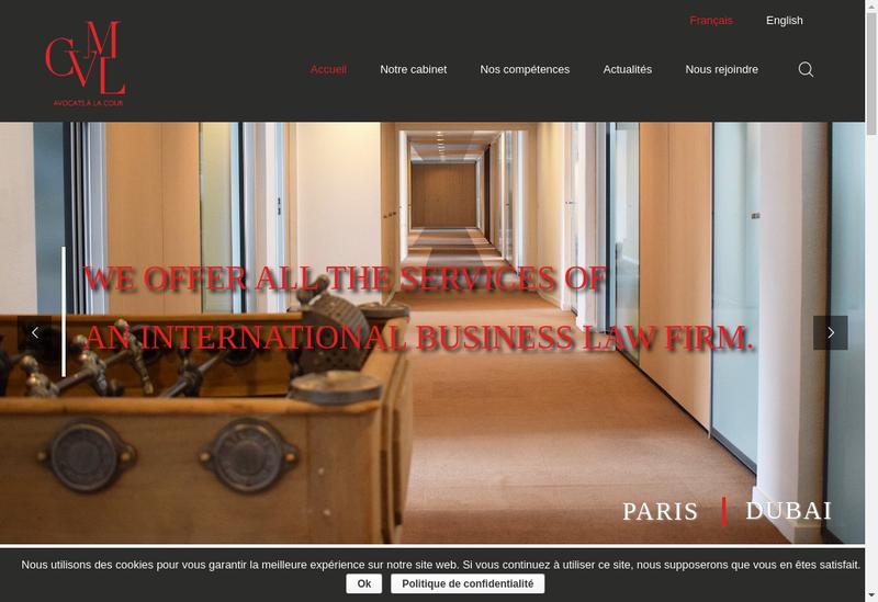 Capture d'écran du site de CVML