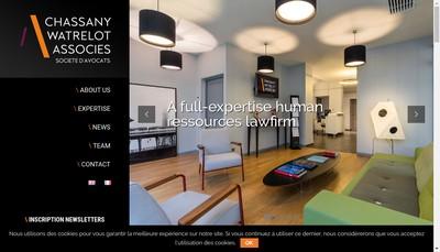Site internet de Chassany Watrelot et Associes