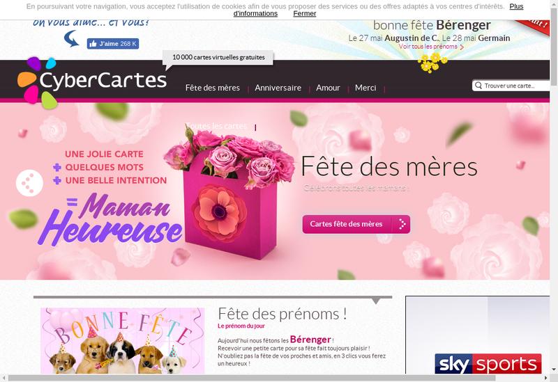 Capture d'écran du site de Cybercartes
