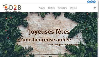 Site internet de D2B Informatique