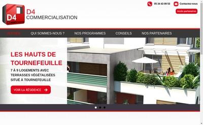 Site internet de D4 Commercialisation