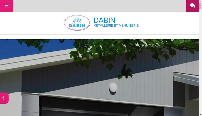 Capture d'écran du site de Atelier de Metallerie Dabin