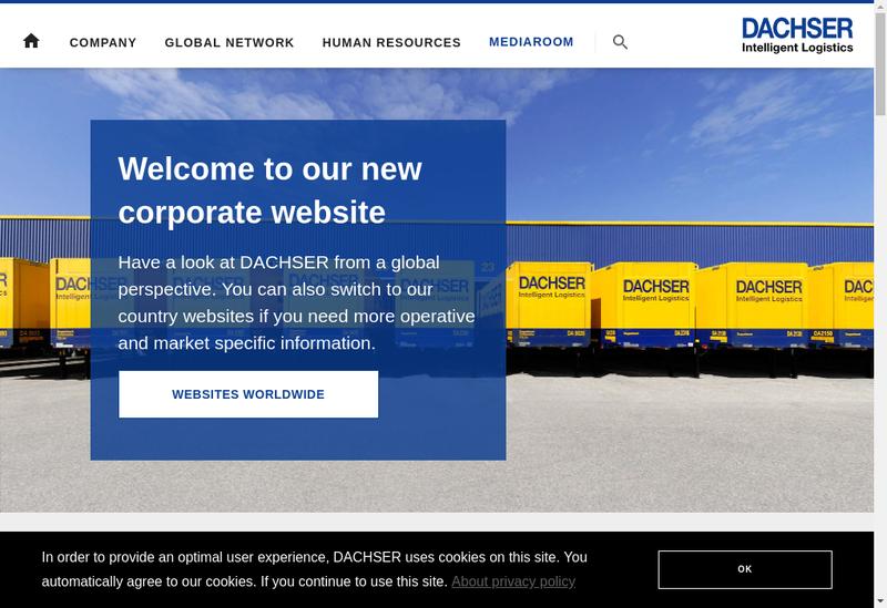 Capture d'écran du site de Dachser France