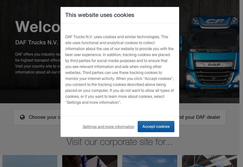 Capture d'écran du site de Turbotrucks Rouen