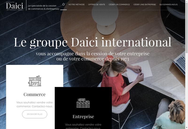 Capture d'écran du site de Daici
