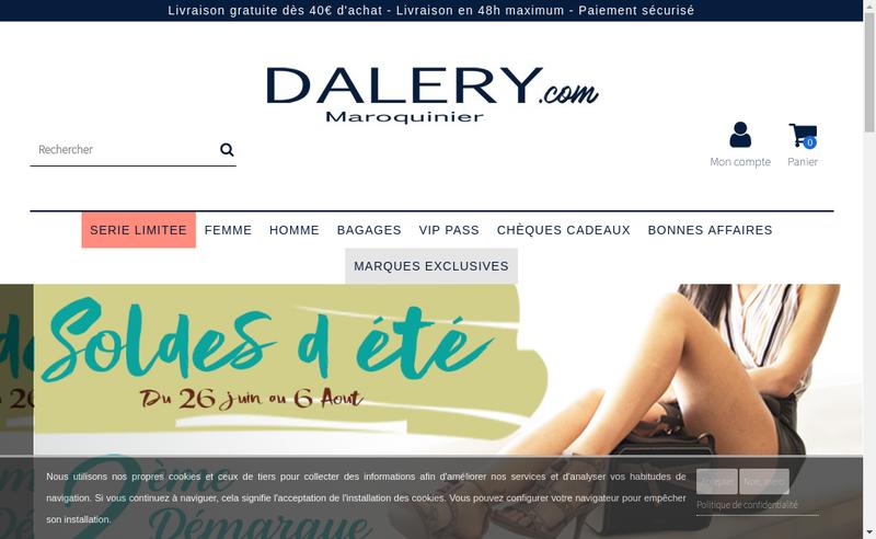 Capture d'écran du site de AD Maroquiniers
