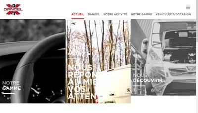 Site internet de Automobiles Dangel