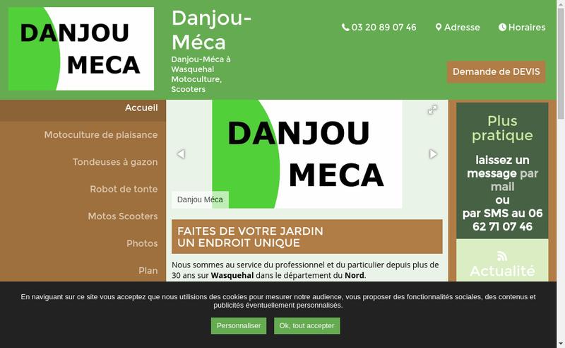 Capture d'écran du site de Jardin Loisirs