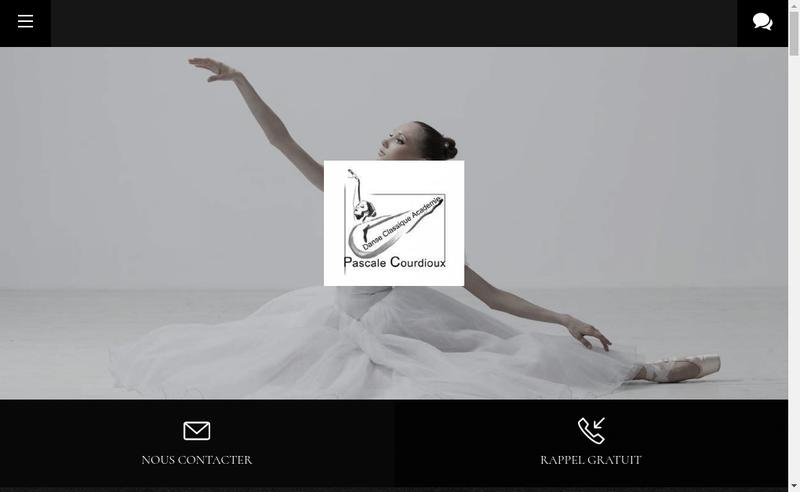 Capture d'écran du site de Pascale Courdioux