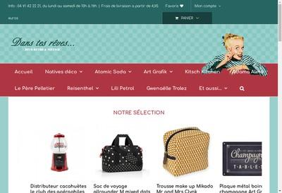 Site internet de Dans Tes Reves