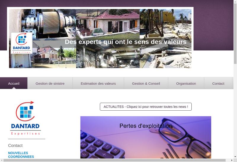 Capture d'écran du site de Dantard Expertises