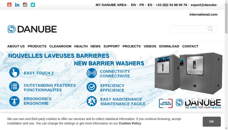 Capture d'écran du site de Danube International