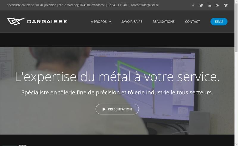 Capture d'écran du site de Dargaisse