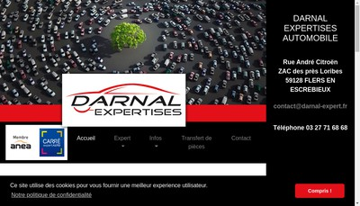 Site internet de Darnal Expertises