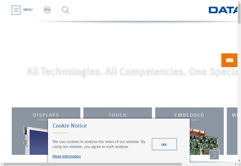 Capture d'écran du site de Data Modul France